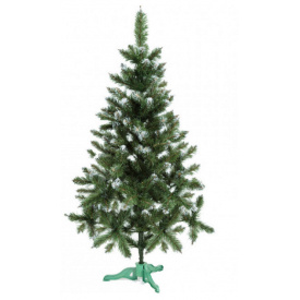 Искусственная елка Сказка 1,30 м зеленая с белыми кончиками
