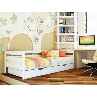 Деревянная детская кровать Эстелла Нота 80x190 см белая-107