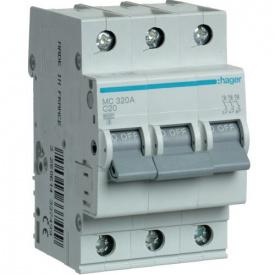 Автоматический выключатель 3p 20А С MC320A Hager