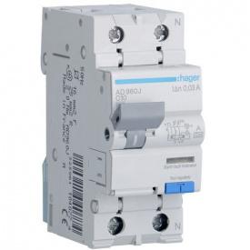 Дифференциальный автоматический выключатель 10A 30 mA тип A Hager