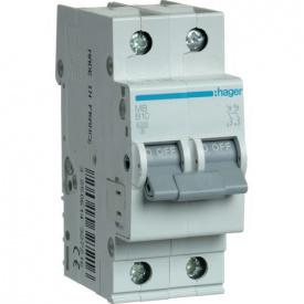 Автоматичний вимикач Hager 16А, 2п, В MB216A