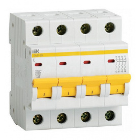 Автоматический выключатель ВА47-29 4p 63A C ИЭК