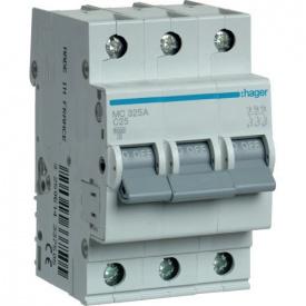 Автоматичний вимикач 3p 25А З MC325A Hager