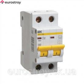 Автоматичний вимикач 2Р 25А 4,5кА C IEK ВА47-29М