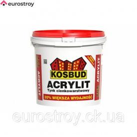 Штукатурка акриловая Acrilit Baranek.светлая зерно 2,0 мм 25 кг Kosbud