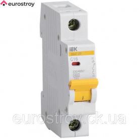 Автоматичний вимикач 1 Р 25 А 4,5 кА C IEK ВА 47-29 М