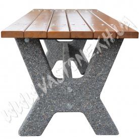 Стол садовый Гарден для беседки дачи Мрамор серый