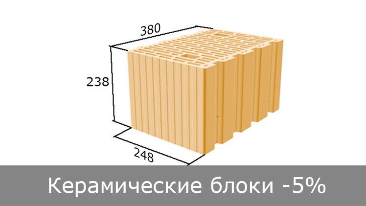 Керамічні блоки 5% ЗНИЖКА