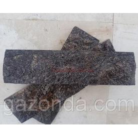 Плитка лицювальна сланець 1х15х73 см чорна
