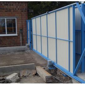 Установка металлических въездных ворот