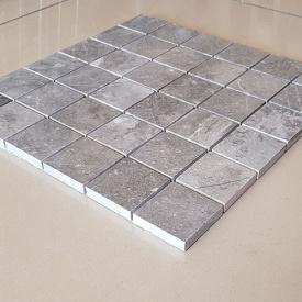 Декоративная мозаика Гренадин из мрамора полированная, лист 1х30,5х30,5