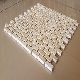 Декоративная мозаика из натурального травертина Прованс,лист 30,7х30,7 см толщина 1 см