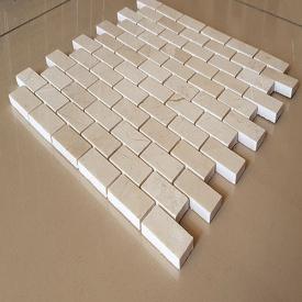 Мозайка мраморная Crema Nova полированный, лист 1х30,5х30,5