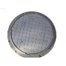 Люк чавун середній С (В-125) 4 вуха кришка 620 навантаження 12,5 т