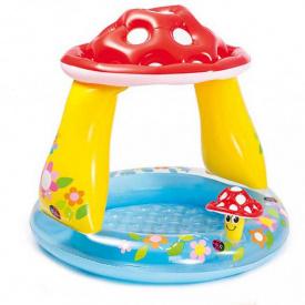 Детский надувной бассейн Intex 57114 с навесом грибочек