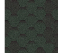 Бітумна черепиця Aquaizol Мозаїка 320х1000 мм зелений мікс