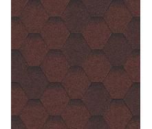 Битумная черепица Aquaizol Мозаика 320х1000 мм красный микс