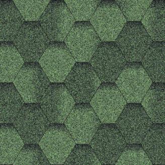 Бітумна черепиця Aquaizol Мозаїка 320х1000 мм зелений еко
