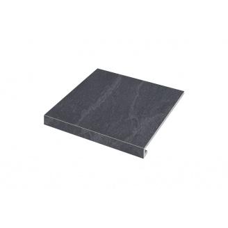 Ступенька угловая левая Zeus Ceramica Slate black 30x34,5 см (SZRXST9RR2)