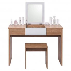 Туалетный гримерный столик с зеркалом Woltu MB6048 Коричневый