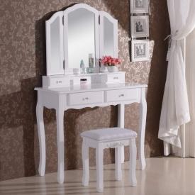 Туалетный гримерный столик с зеркалом Woltu MB6027