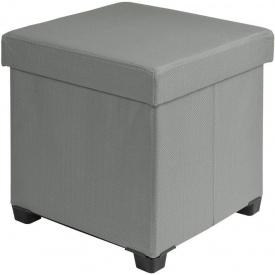 Пуфик складной ящик для хранения Woltu SH-53 Темно-серый