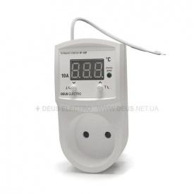 Терморегулятор регулятор температуры цифровой в розетку DEUS Electro ТРМ-10 Р-V 2 без заземления 10 А 220 В