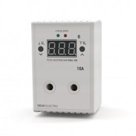 Реле контроля напряжения устройство защиты от перепадов напряжения DEUS Electro РКН-10 Р 10 А 220 В