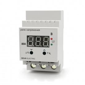 Реле напряжения устройство защиты от скачков напряжения DEUS Electro РКН-80 Д 80 А 220 В