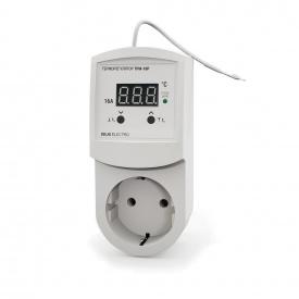 Терморегулятор регулятор температуры цифровой в розетку DEUS Electro ТРМ-16 Р 16 А 220 В