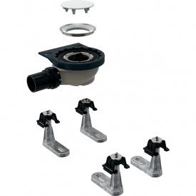 Сифон для душевых поддонов Geberit с четырьмя ножками для душевого поддона Setaplano высота гидрозатвора 50 мм 154.010.00.1