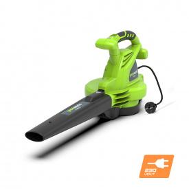 Воздуходувка-пылесос электрическая Greenworks GBV2800 230V