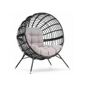 Садовое кресло Arancia черно-серый