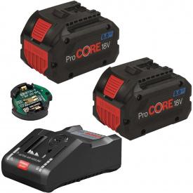 Набор 2 аккумулятора Bosch ProCORE18V 8.0Ah + ЗУ GAL 18V-160 C + GCY 30-4 (1600A016GP)