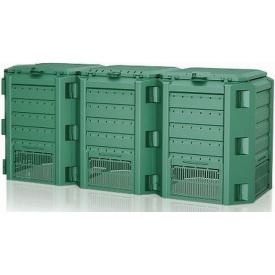Компостер Prosperplast MODULE COMPOGREEN 1200 л, зеленый (5905197695464)