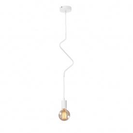 Світильник підвісний на одну лампу MSK Electric Е27 метал (NL 1442W ZIGZAG)