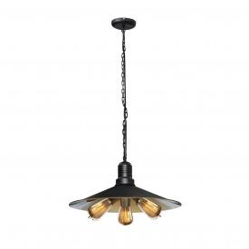 Светильник подвесной в стиле лофт на три лампы MSK Electric E27 металл (NL 4531)