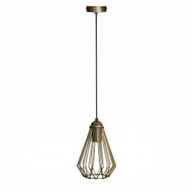 Светильник подвесной в стиле лофт MSK Electric бронза E27 (NL 537 BN)