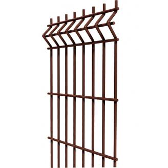 Сітка для огорожі 1.23 коричневий-ral 8017 / Zn + ППЛ / 3D / 3-4 / SZ