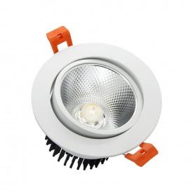 Вбудований світильник Downlight Biom 7W 6000К (DL-7W-R-COB)
