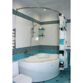 Карниз - дуга для асимметрической ванны 170x110 Ф25 Комфорт