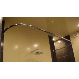 Карниз для ванны 160x70 п - образный Комфорт Ф25 ЛЮКС