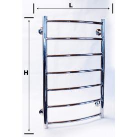 Нержавеющий водяной полотенцесушитель лестница 700х400 700x600