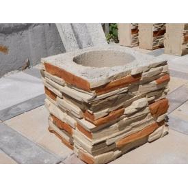 Блок столбика Artbeton Скала 30х30х27 см серый