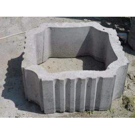 Секция колонны средняя квадратная 53х53х23 см серая