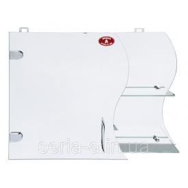 Оригинальный навесной зеркальный шкафчик в ванную с волнообразным фасадом А17-45