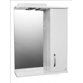 Зеркальный шкаф с подсветкой в ванную Z1-55 с прямым фасадом