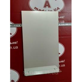 Зеркало в ванную с полочкой №2 прямоугольное (400х687х120 мм)