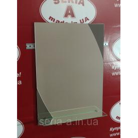 Зеркало в ванную прямоугольное с декором №79 (м) 687х450х120 мм