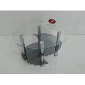 Журнальный стол Вена 550х700х520 овальный с полкой